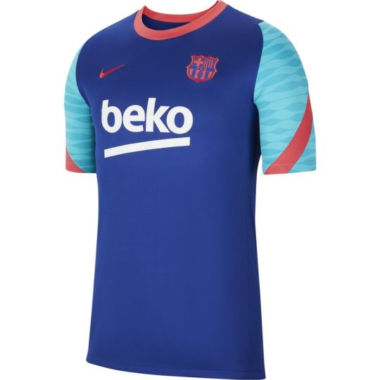 Nike FC Barcelona Strike Trainingsshirt 2021 Kids Blauw Rood