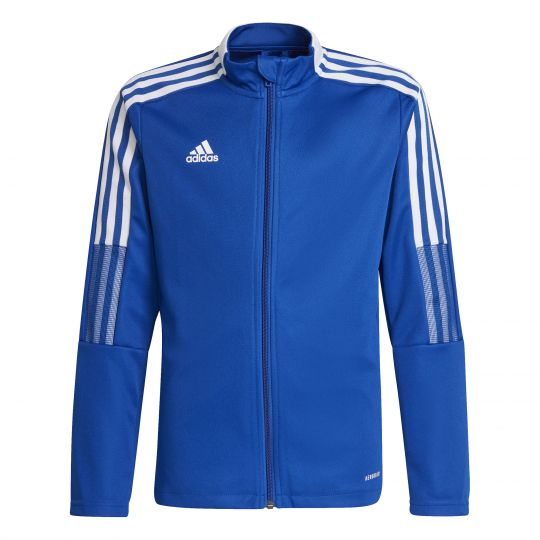 adidas Tiro 21 Trainingsjack Kids Blauw Wit