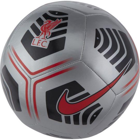 Nike Liverpool Pitch Voetbal Maat 5 Zilver Zwart Rood