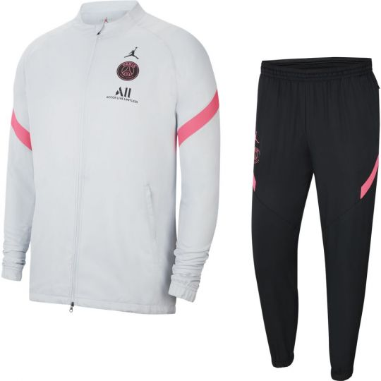 Nike Paris Saint Germain Strike Full-Zip Trainingspak 2021 Kids Platinum Zwart Roze