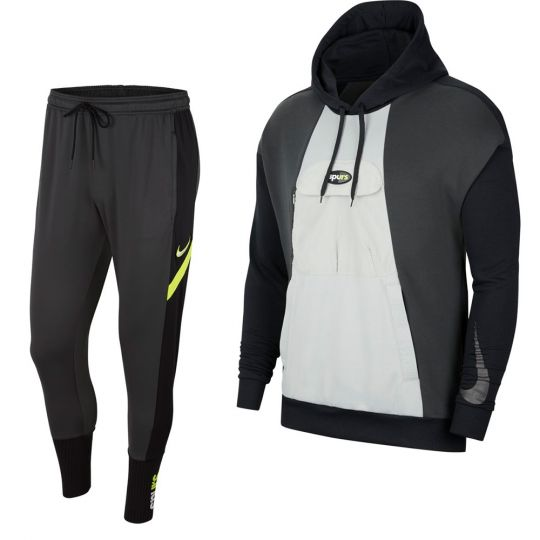Nike Tottenham Hotspur Hoodie Trainingspak 2021 Donkergrijs Zwart Zilver