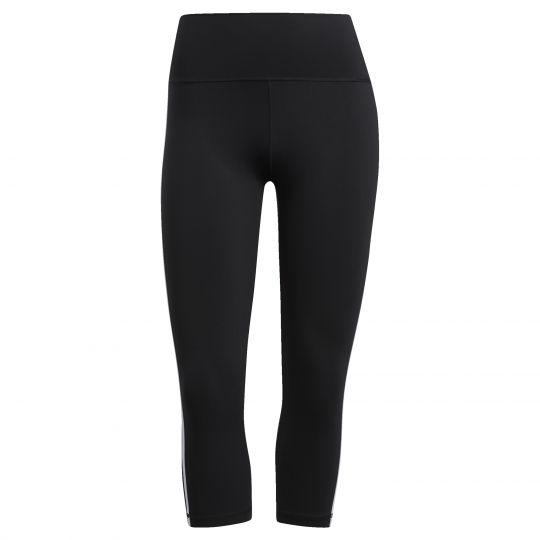 adidas Believe This 2.0 3-Stripes 3/4 Legging Dames Zwart