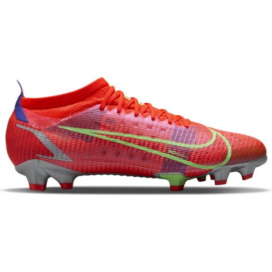 Nike Mercurial Vapor 14 Pro Gras Voetbalschoenen (FG) Rood Zilver