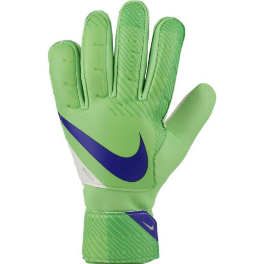 Nike Match GFX Keepershandschoenen Groen Wit Donkerblauw