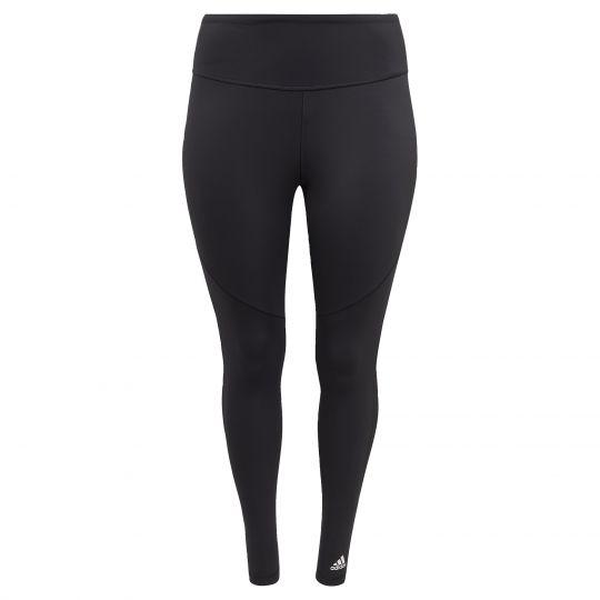 adidas Believe This 3-Stripes Mesh Lange Legging Dames Zwart (Grote Maat)
