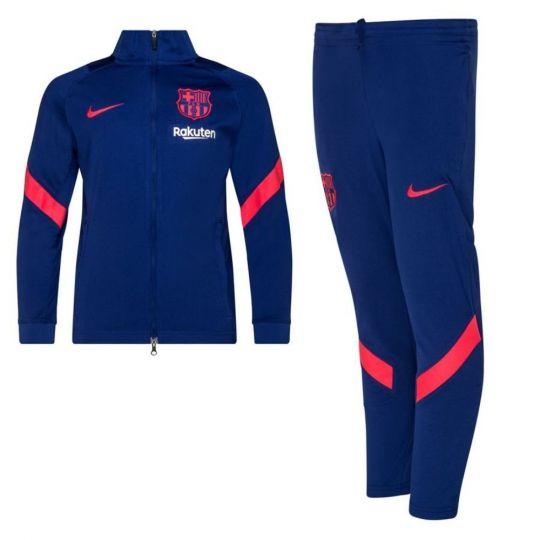 Nike FC Barcelona Strike Trainingspak 2021 Kids Blauw Rood