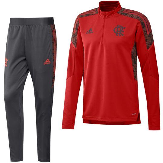 Adidas CR Flamengo Trainingspak 2021-2022 Rood Zwart