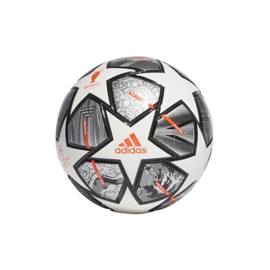 adidas Champions League Finale 21 Mini Voetbal Maat 1 Wit Donkergrijs Zwart