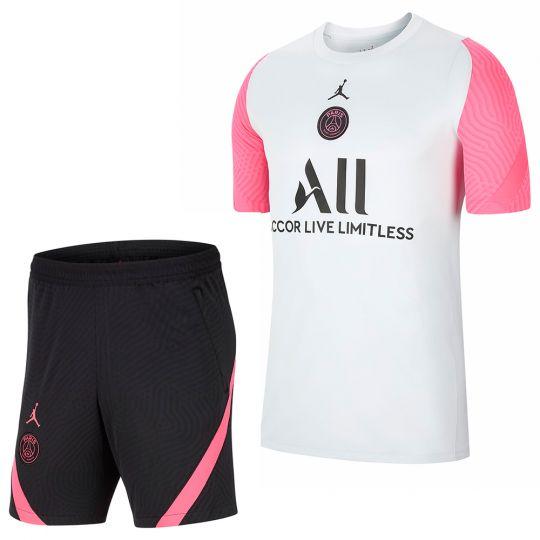 Nike Paris Saint Germain Strike Trainingsshirt Kids Wit Roze