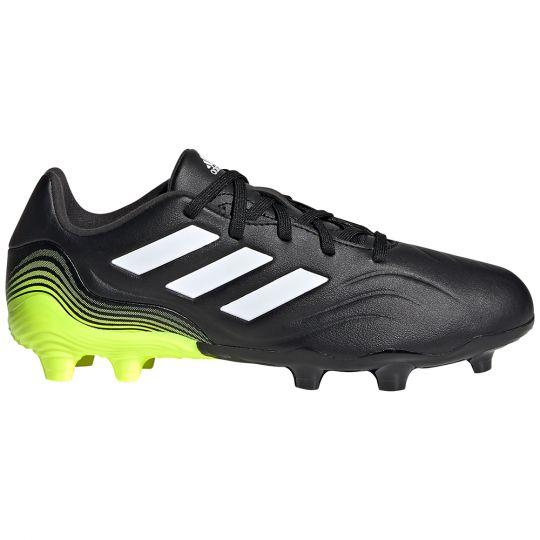 adidas Copa Sense.3 Gras Voetbalschoenen (FG) Kids Zwart Wit Geel