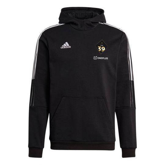 adidas Team 39 Hoodie Zwart Wit