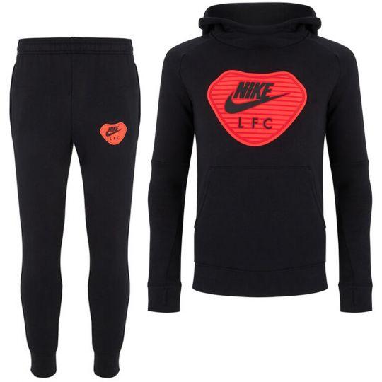 Nike Liverpool FC GFA Fleece Trainingspak CL 2020-2021 Kids Zwart