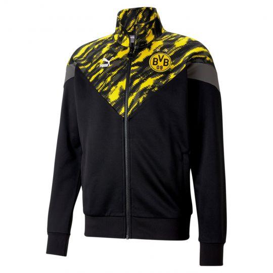 PUMA Borussia Dortmund Iconic MCS Graphic Trainingsjack 2021 Zwart Geel