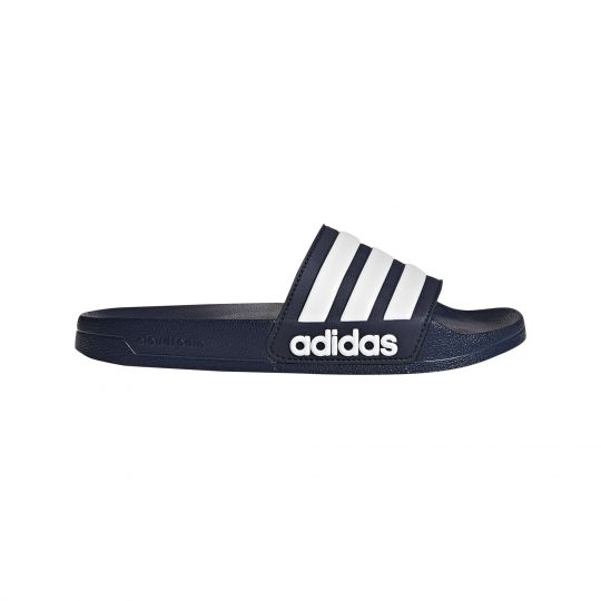 adidas Adilette Cloudfoam Slipper Collegiate Navy Future White