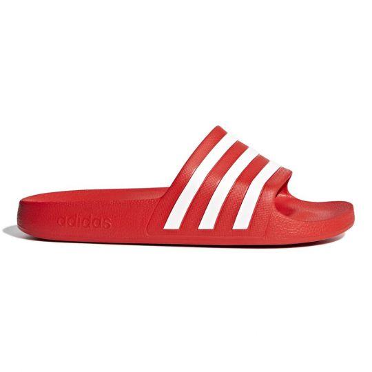 adidas ADILETTE AQUA Slippers Rood Wit
