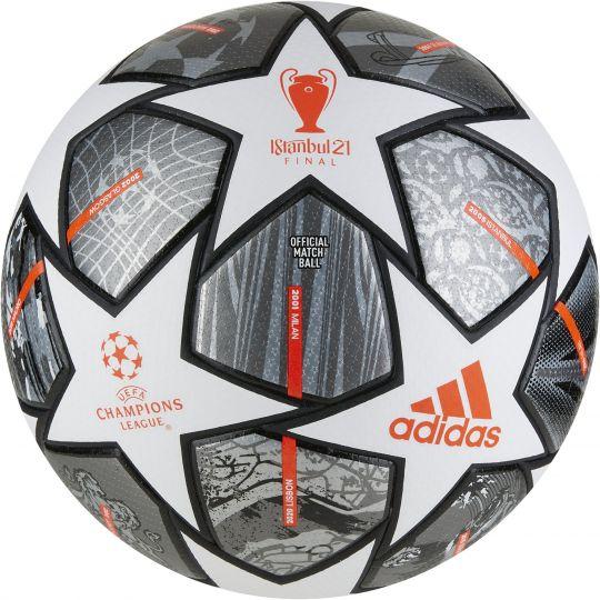 adidas Champions League Finale 21 Officiële Voetbal Maat 5 Wit Donkergrijs Zwart