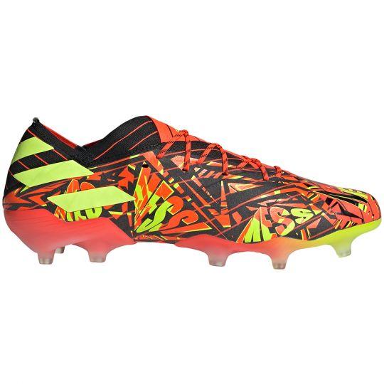 adidas Nemeziz Messi.1 Gras Voetbalschoenen (FG) Rood Geel Zwart