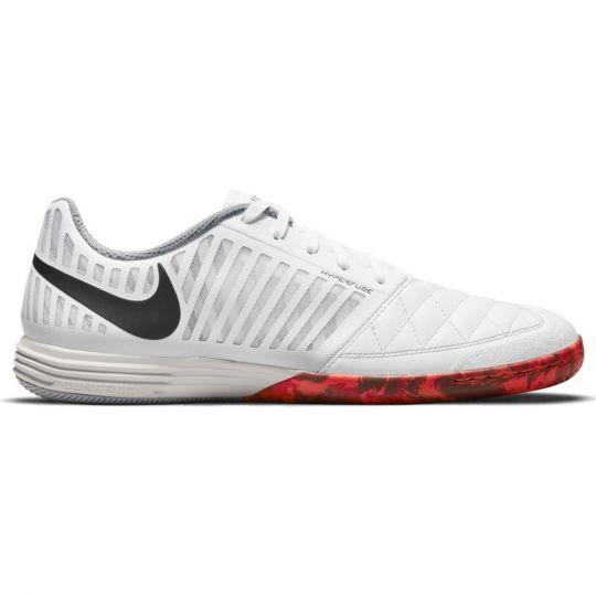 Nike LunarGato II Zaalvoetbalschoenen Wit Zwart Grijs Rood