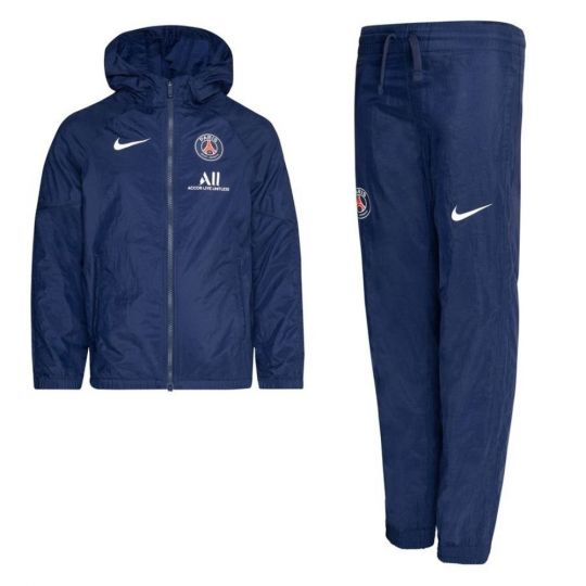 Nike Paris Saint Germain Trainingspak Woven 2020-2021 Kids Donkerblauw
