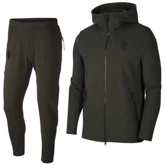 Nike Portugal Tech Fleece Pack Trainingspak 2020-2022 Donkergroen