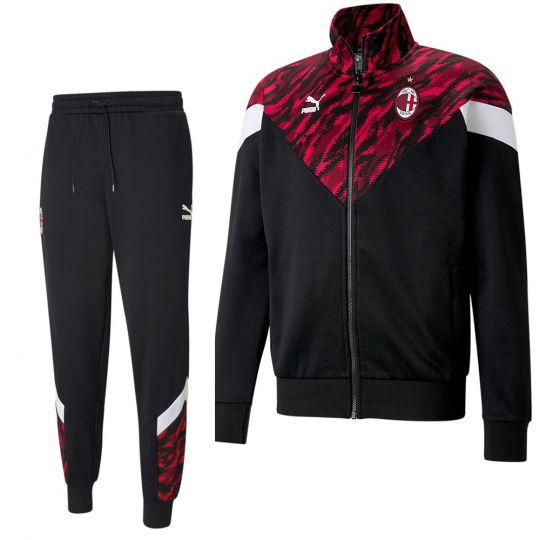 Puma AC Milan Iconic Trainingspak Zwart Rood