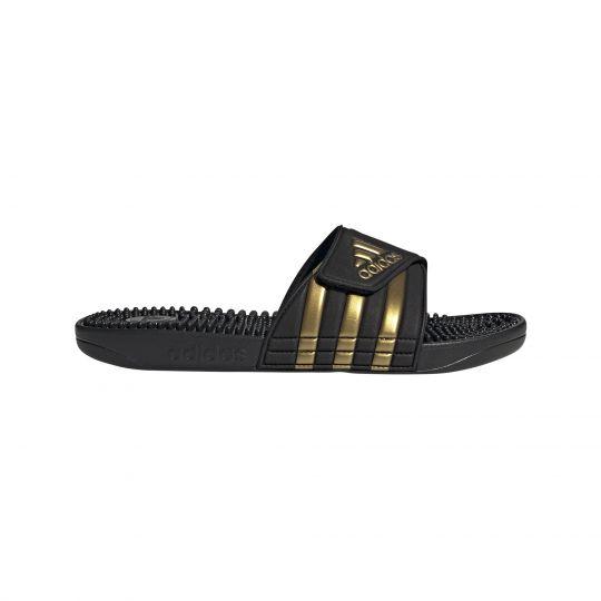 adidas Adissage Slippers Zwart Goud