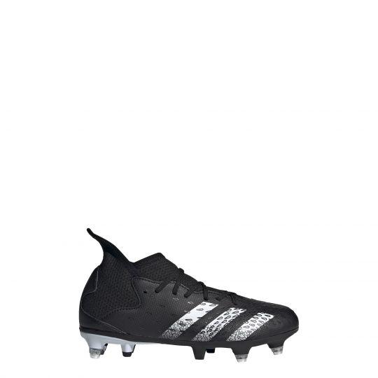 adidas Predator Freak.3 Ijzeren-Nop Voetbalschoenen (SG) Kids Zwart Wit