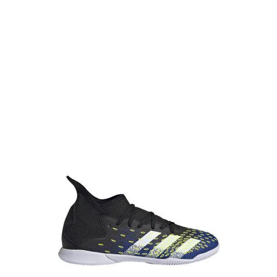 adidas Predator Freak.3 Zaalvoetbalschoenen (IN) Kids Zwart Blauw Geel