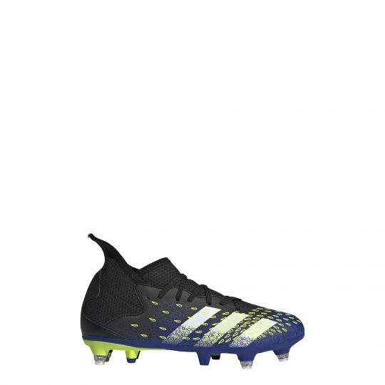 adidas Predator Freak.3 Ijzeren-Nop Voetbalschoenen (SG) Kids Zwart Blauw Geel