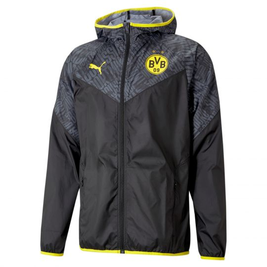 PUMA Borussia Dortmund Warmup Trainingsjack 2021 Zwart Geel