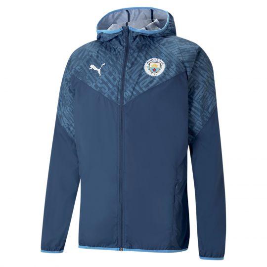 PUMA Manchester City Warmup Trainingsjack 2021 Donkerblauw