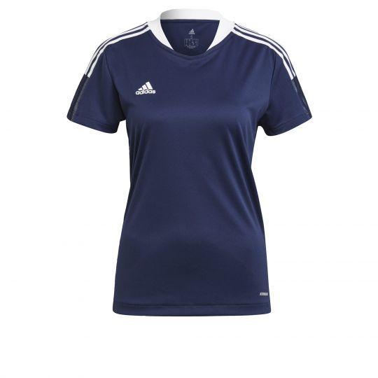 adidas Tiro 21 Trainingsshirt Dames Donkerblauw Wit