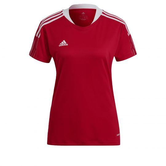 adidas Tiro 21 Trainingsshirt Dames Rood Wit
