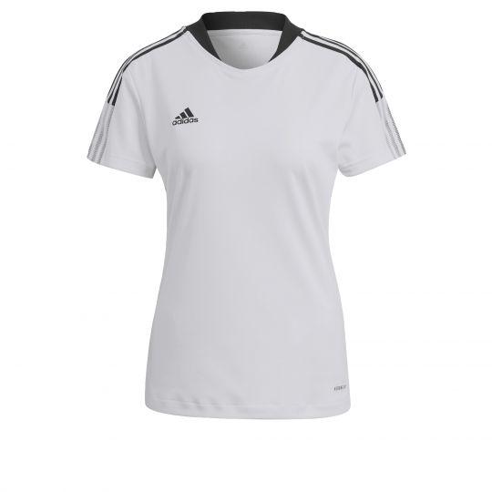 adidas Tiro 21 Trainingsshirt Dames Wit Zwart