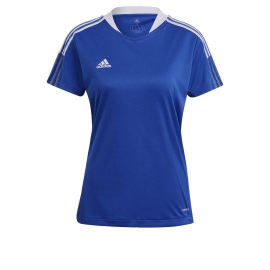 adidas Tiro 21 Trainingsshirt Dames Blauw Wit