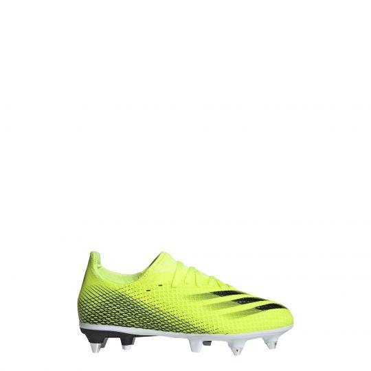 adidas X Ghosted.3 Ijzeren-Nop Voetbalschoenen (SG) Kids Geel Wit