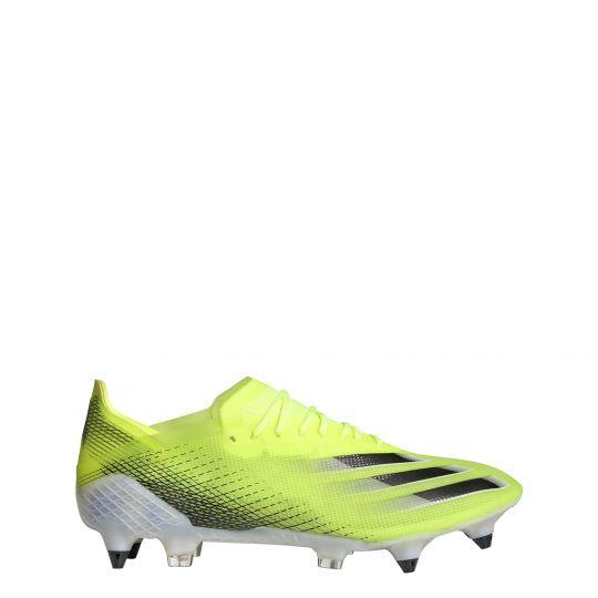 adidas X Ghosted.1 Ijzeren-Nop Voetbalschoenen (SG) Geel Blauw Wit