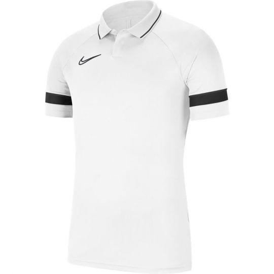 Nike Academy 21 Polo Dri-Fit Wit Zwart
