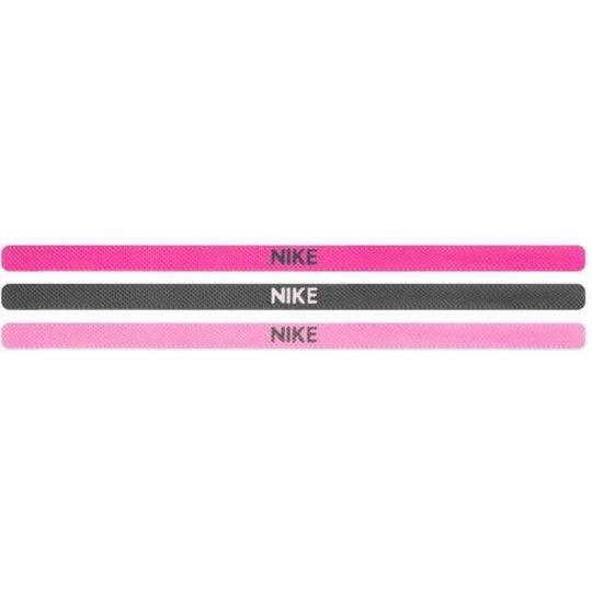 Nike Elastic Haarbanden 3 pack Paars Roze Grijs