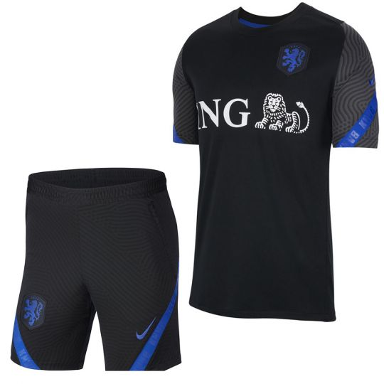 Nike Nederland Trainingsset 2020-2022 Zwart Blauw