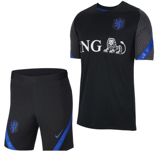 Nike Nederland Trainingsset 2020-2022 Kids Zwart Blauw