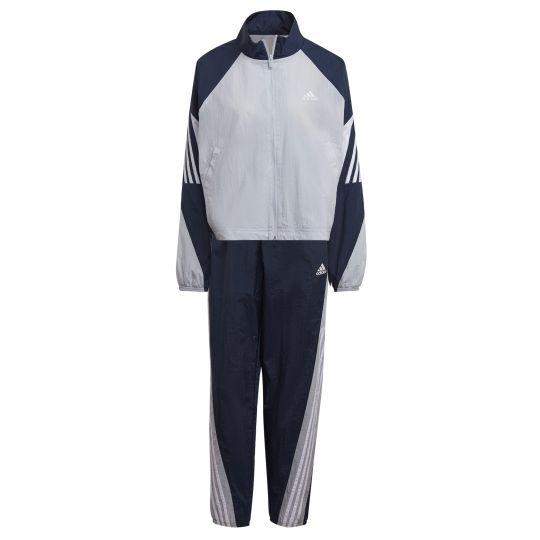 adidas Sportswear Game-Time Woven Trainingspak Dames Blauw Grijs