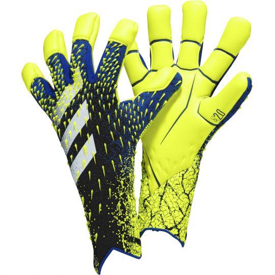 adidas Predator Pro Hybrid Keepershandschoenen Zwart Blauw Geel