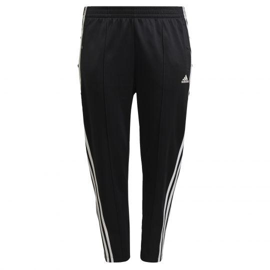adidas Sportswear Wrapped 3-Stripes Snap Broek Zwart Wit (Grote Maat)