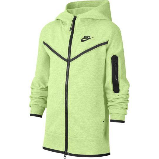 Nike Sportswear Tech Fleece Hoodie Full Zip Kids Groen Zwart