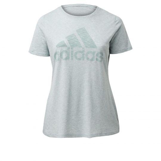 adidas Winners Short Sleeve T-shirt (Grote Maat) Dames Lichtgroen