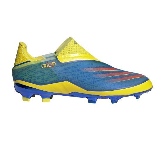 adidas X Ghosted+ Gras Voetbalschoenen (FG) Kids Blauw Rood Geel