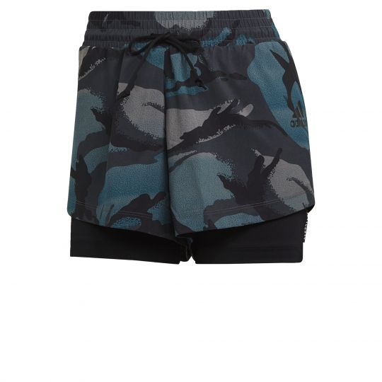 adidas Z.N.E. Sportswear Short Dames Blauw Grijs
