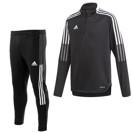 adidas Tiro 21 Trainingspak Kids Zwart Wit