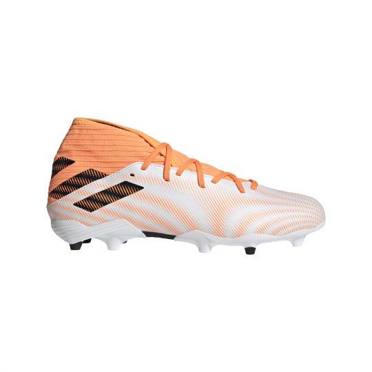 adidas Nemeziz.3 Gras Voetbalschoenen (FG) Wit Zwart Oranje